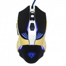 Мышь оптическая игровая проводная с подсветкой Jiexin X13 Черно-золотой