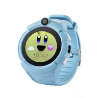 Детские цветные смарт-часы Smart Baby Watch Q610 с камерой и фонариком GPS Blue