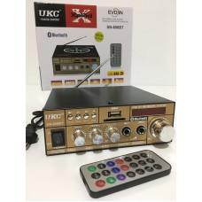 Усилитель звука UKC SN-606BT с Bluetooth, Караоке, FM, USB, 50 Вт и пультом ДУ