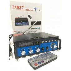 Усилитель звука UKC SH-666BT с Bluetooth, Караоке, FM, USB, 2*60 Вт и пультом ДУ