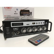 Усилитель звука UKC SN-838BT с Bluetooth, FM, USB, SD, MMC, 30 Вт и пультом ДУ