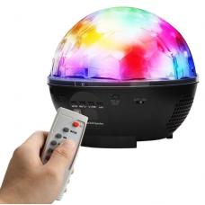 Диско шар (дискошар) беспроводной аккумуляторный с Bluetooth с пультом ДУ  7 color DMX 512