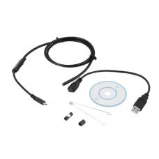 Эндоскоп водонепроницаемый с камерой 7 мм для Android и ПК с подсветкой 1,5 м Digital