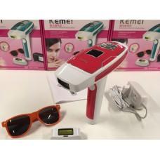 Эпилятор лазерный фотоэпилятор Kemei KM 6813 домашний для всего тела Red