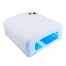 Лампа сушка для ногтей УФ UV Lamp 36W сушилка для маникюра и педикюра с таймером New-818 White