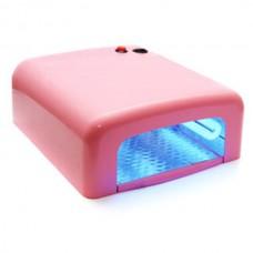Лампа сушка для ногтей УФ UV Lamp 36W сушилка для маникюра и педикюра с таймером New-818 Pink