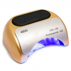 Лампа сушка для ногтей гибридная УФ UV Lamp CCFL+LED 48W сушилка для маникюра и педикюра Gold