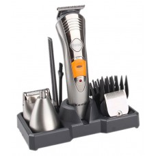 Триммер машинка для стрижки волос 7в1 Kemei KM-580A Silver