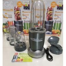 Блендер фитнес-блендер измельчитель кухонный Nutribullet 900 Вт 4 чаши Серый