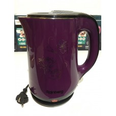 Чайник электрический из нержавеющей стали и пластика дисковый 2,5 л 1500 Вт электрочайник RAINBERG RB-903 Violet
