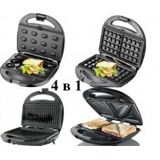 Гриль, бутербродница, вафельница, орешница мультимейкер 4в1 Livstar со съемными формами