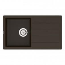 Мойка кухонная кварцевая VANKOR Easy EMP 02.76 Chocolate (Шоколад)