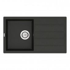 Мойка кухонная кварцевая VANKOR Easy EMP 02.76 Black (Черный)