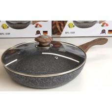 Сковорода гранитная 28 см с крышкой Benson BN-540