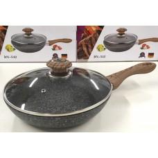 Сковорода гранитная 24 см с крышкой Benson BN-542