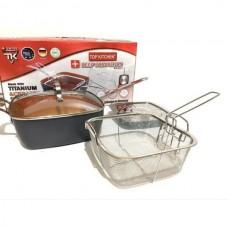 Сковородка-фритюрница пароварка с крышкой Top Kitchen BN 8001 Black