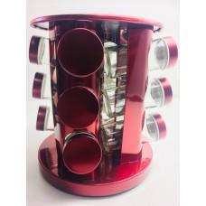 Набор для специй 13 шт. на вращающейся подставке Benson BN-142 RED