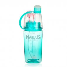 Бутылка с распылителем спортивная для воды и напитков New B 400 мл Blue