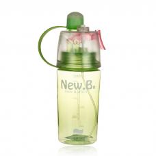 Бутылка с распылителем спортивная для воды и напитков New B 400 мл Green