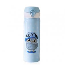 Термос Термокружка Термочашка Sova Сова с совой 500 мл Blue