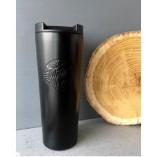 Термос Термокружка Термочашка Тамблер Starbucks матовая 500 мл Black
