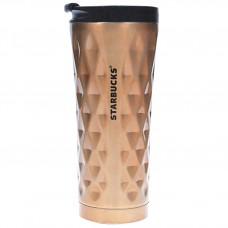Термос Термокружка Термочашка Тамблер Starbucks Diamond Wave 500 мл Gold