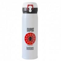 Термос Термокружка Термочашка Super Heroes Spiderman Спайдермен 500 мл Красный