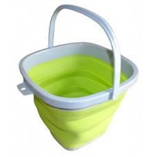Ведро складное силиконовое квадратное 10 л CYAN Green