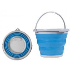 Ведро складное силиконовое круглое 10 л CYAN Blue