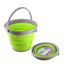 Ведро складное силиконовое круглое 5 л CYAN Green