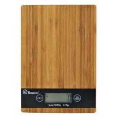 Весы электронные кухонные бамбуковая платформа до 5 кг Domotec MS-A