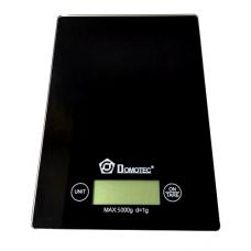 Весы электронные кухонные стеклянные Domotec MS-912 Glass Black