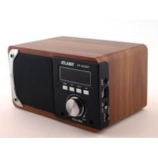 Колонка портативная FM акустическая Atlanfa AT-1822BT 6W Super Bass speaker AUX Bluetooth MP3 microSD/TF + USB и функцией Power Bank