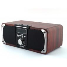 Колонка портативная FM акустическая Atlanfa AT-1833BT 12W Super Bass speaker AUX Bluetooth MP3 microSD/TF + USB и функцией Power Bank
