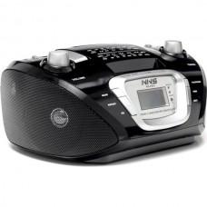 Радиоприемник Магнитофон Бумбокс Колонка с пультом ДУ NNS NS-050U Black