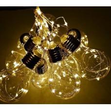 Гирлянда-штора Лампочки Шарики прозрачная RGB хамелеон мульти Five-pointed star 2,5 м