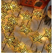 Гирлянда светодиодная Звезда Золото 40 LED 3 метра HLV
