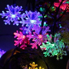 Гирлянда-штора Снежинки прозрачная RGB хамелеон мульти Five-pointed star 4,5 м