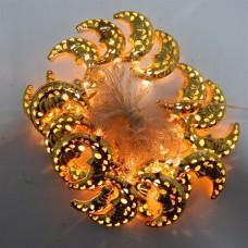 Гирлянда светодиодная Месяц Золото Желтая 40 LED 3 метра HLV