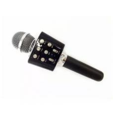 Микрофон караоке с USB, microSD, AUX, FM, Bluetooth со встроенной колонкой 6 Ватт WSTER WS-1688 Black (WS-1688B)