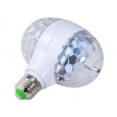 Диско-лампа светодиодная двойная вращающаяся LED Magic Ball Light 002