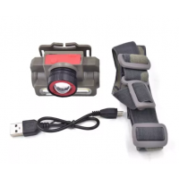 Фонарик (фонарь) налобный аккумуляторный CREE XPE+COB Rechargeable Headlight 8808