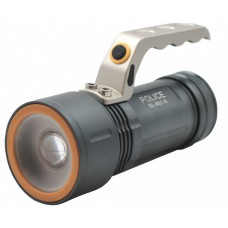 Фонарь прожектор металлический корпус аккумуляторный Police BL801-9 XML CREE T6