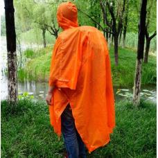 Плащ-дождевик туристический пончо от дождя ADTU (накидка, дождевик) AT6927 Orange