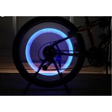 Насадки 2 шт. светодиодные подсветка колеса на ниппель велосипеда, мотоцикла, автомобиля Blue Digital