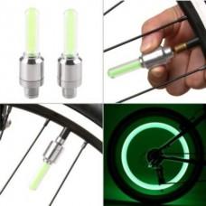 Насадки 2 шт. светодиодные подсветка колеса на ниппель велосипеда, мотоцикла, автомобиля Green Digital