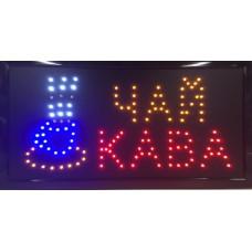 """Вывеска светодиодная LED Contour Pro """"ЧАЙ-КАВА"""" 48 на 25 см"""
