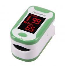 Пульсометр-оксиметр пульсоксиметр на палец Finger Pulse Oximeter Бело-зеленый