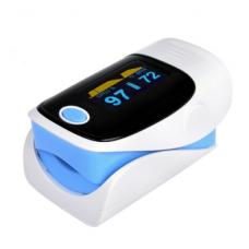 Пульсометр-оксиметр пульсоксиметр на палец Jziki Голубой