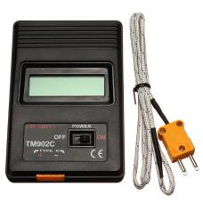 Цифровой термометр с термопарой К-типа Kronos TM-902C (-50°C - +1300°C)  (K-902-1)